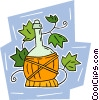 Vector Clipart image  of a wine cask