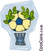 Vector Clip Art graphic  of a soccer ball