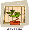 Vector Clip Art image  of a exotic miniature tree