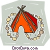 tepee Vector Clip Art graphic