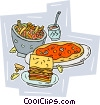 Vector Clipart image  of a Italian food