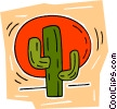Vector Clipart picture  of a cactus