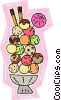 ice cream treats Vector Clipart illustration