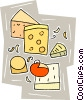 cheeses Vector Clipart image
