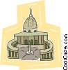 Vector Clipart image  of a St. Peter's
