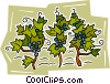 wine grapes Vector Clipart illustration