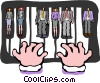 piano keys Vector Clipart illustration
