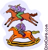 horse, rocking horse Vector Clipart illustration
