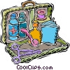 Vector Clipart picture  of a first aid kit