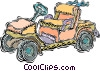 Vector Clipart graphic  of a electric golf cart golf cart
