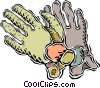 racing gloves Vector Clip Art picture