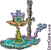 Vector Clipart image  of a Bunsen burner
