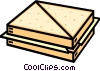 Vector Clipart graphic  of a cheese sandwich