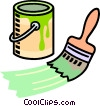Vector Clipart image  of a paint can