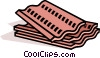 Vector Clip Art image  of a siding