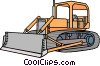 Bulldozer Vector Clip Art graphic