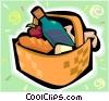 picnic basket Vector Clip Art graphic