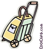 Vector Clip Art image  of a luggage dolly