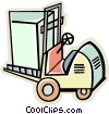 forklift Vector Clipart illustration