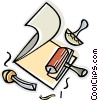 rubber stamp, roller Vector Clipart picture