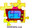 television Vector Clipart image
