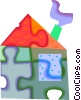 Vector Clip Art graphic  of a house