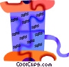 Vector Clip Art picture  of a thread