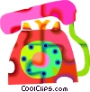 Vector Clipart image  of a telephone
