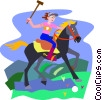 Polo player Vector Clip Art picture