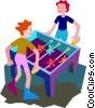 Vector Clipart graphic  of a foosball