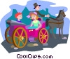 Vector Clipart illustration  of a horse and carriage