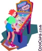 pinball machine Vector Clipart illustration