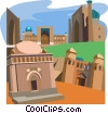 Vector Clip Art graphic  of a Uzbekistan