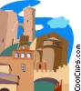 Vector Clip Art picture  of a Palma de Mallorca's Bellver Castle
