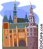 Amsterdam, Holland Vector Clipart illustration