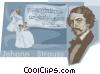 Vector Clip Art image  of a Johan Strauss