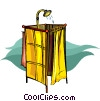 Vector Clip Art picture  of a shower stall