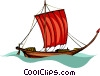 Vector Clipart graphic  of a pirate ship