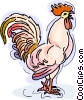 Vector Clipart image  of a Rooster crowing