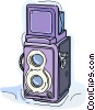 Vector Clip Art graphic  of a old camera