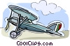 airplane, single engine plane Vector Clipart illustration