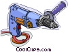 Vector Clip Art image  of a drill