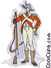 Vector Clip Art graphic  of a 19th century soldier