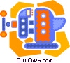 Vector Clip Art image  of a vice