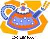 Vector Clip Art image  of a steam kettle