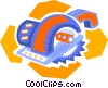 Vector Clipart illustration  of a skill saw