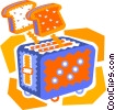 toaster with toast popping up Vector Clipart picture