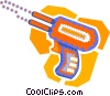 Vector Clip Art picture  of a rivet gun