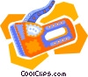 Vector Clipart illustration  of a staple gun