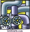 pipes and valves, industry Vector Clipart picture